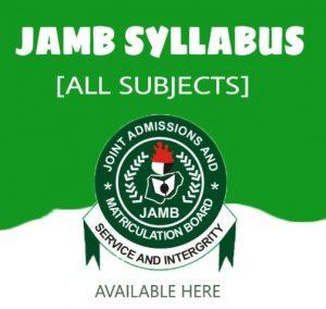 JAMB Subject Syllabus