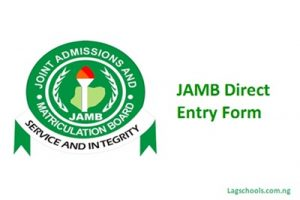 Joint Admission and Matriculation Board (JAMB) Admission Letter